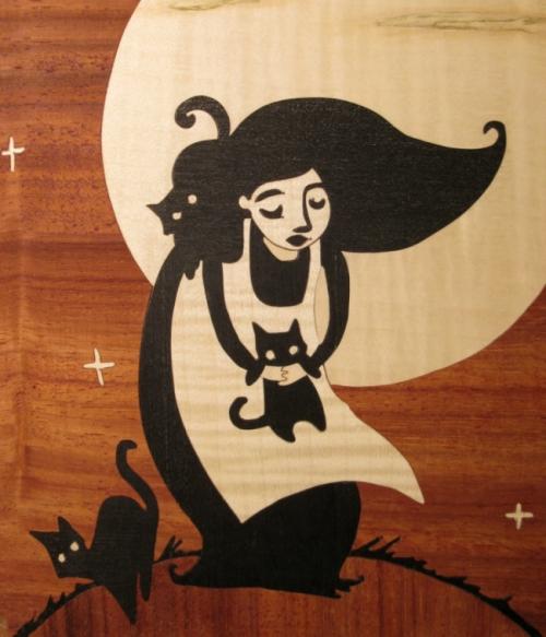 marqueterie d'après une illustration de Virginie Martins-B