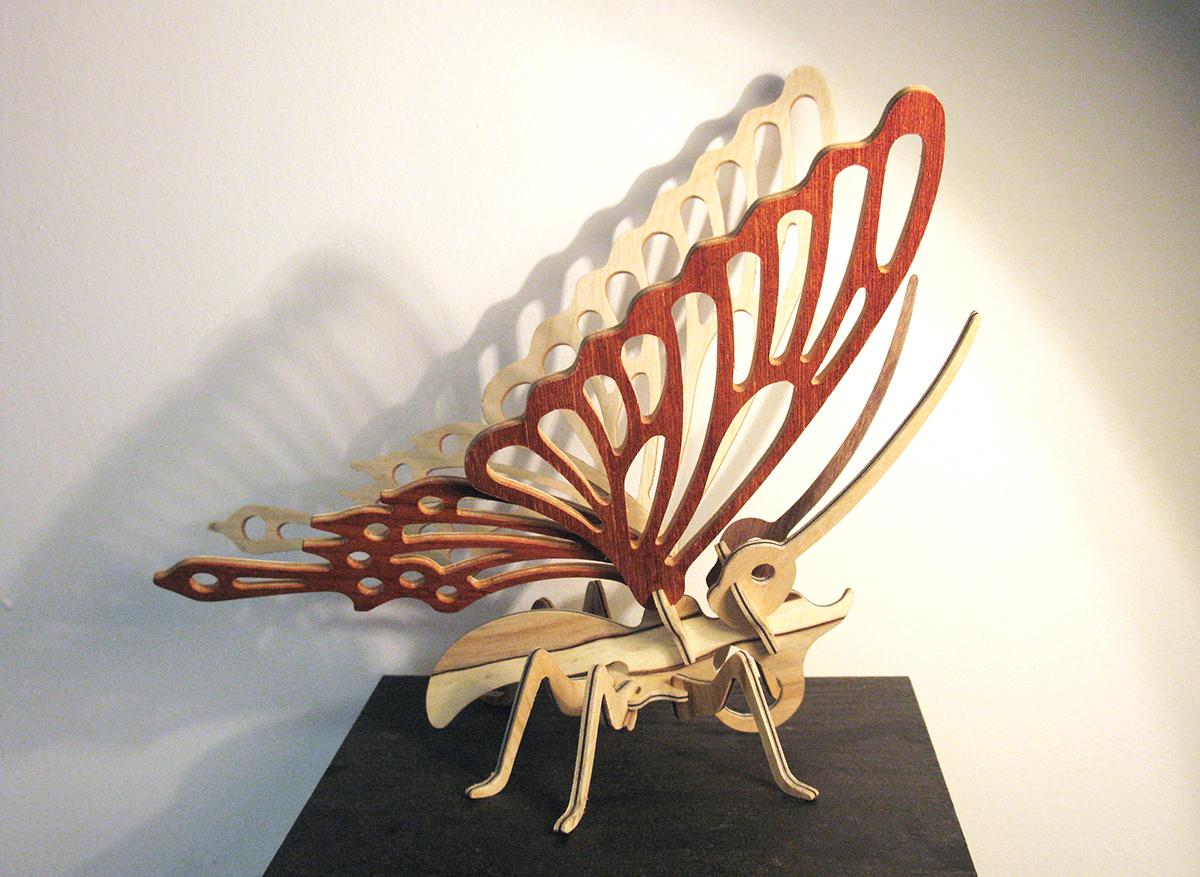 Papillon puzzle 3D