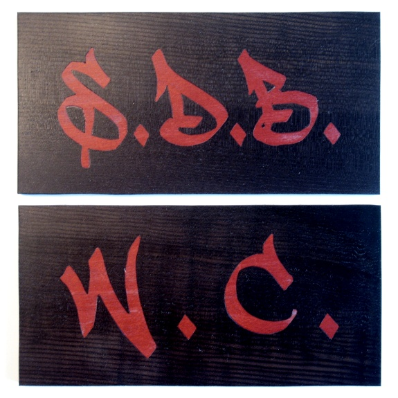 enseignes marqueterie style graffiti-nr1