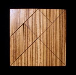 tangram - carré - zebrano